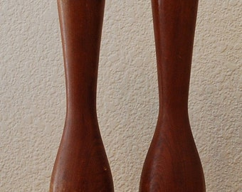 Vintage Mid Century Modern Wooden Salt and Pepper Shakers