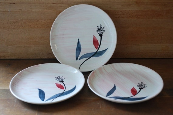 Vintage Stetson Rio Mid Century small plates (3)