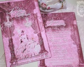 Marie Antoinette Invitation Immortal Memorie  Set of Six Invitations Set