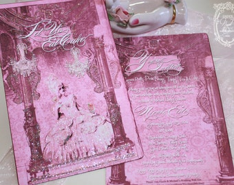 Marie Antoinette Immortal Memorie of the Incomparable for Set of Six Invitations or Stationery Card Set