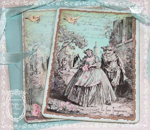 French Stationery Le Royale Cocu Imaginaire Cards or Invitation Set