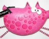 PiG named Hamhock ... WhimsicaL WaLL ArT ... Fushia PinK polka dots ... Team PosH NurserY