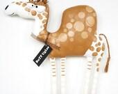 CameL named VeriZoN ... BuTT UgLee ... WhimSicaL WaLL ArT  ...  Tan ... Latte ...polka dots ...