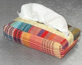Mad 4 Madras/ Boxy/ Pocket Tissue Case/ Purse Tissue Cozy/ Ecofriendly