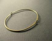 Duality - brass articulated link bracelet