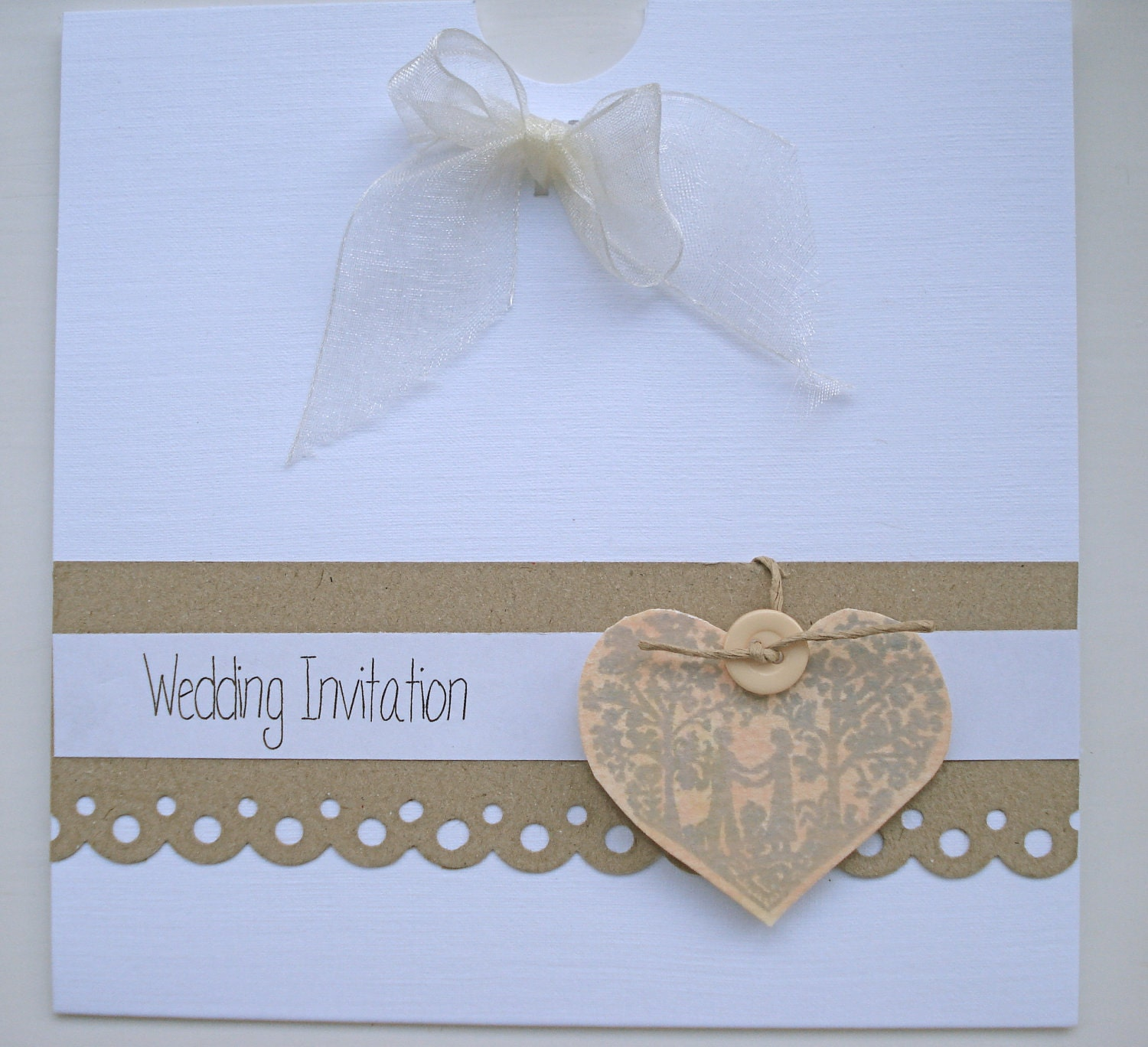 The ELLA Range Vintage Handmade Wedding Invitation By BlueJardin