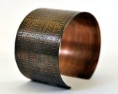 Binary Code Copper Cuff Bracelet Just Because Everything is Different Doesn't Mean Anythings Changed