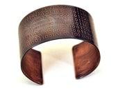 Binary Code Cuff Bracelet in Copper Personalized