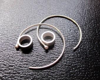 Sterling silver at hoop earrings Large