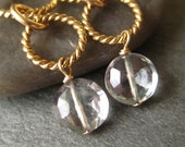 Free Shipping - Gold-Filled Rings and Faceted Mystic Quartz Earrings