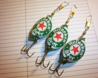 Heineken Bottle Cap Lures (3)