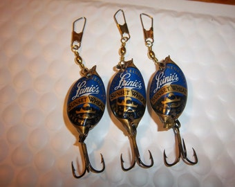 Leinie's Sunset Wheat Beer Cap Lures (3)