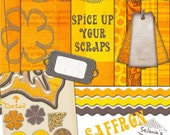 SALE Saffron - Digital Scrapbooking Kit