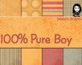 SALE Digital scrapbooking kit - 100 Percent Pure Boy