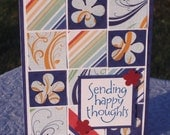Happy Thoughts Patchwork in Blue and Orange