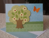 Beautiful Spring Blossoming Tree - Blank note card