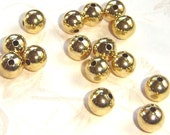 Gold Plated 6mm Spacer Beads 25 Grams