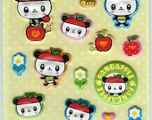 Sanrio Pandapple Glossy Foam Sticker Sheet