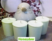 4 HONEYDEW Soy Wax Votive Candles Black Mountain Candles