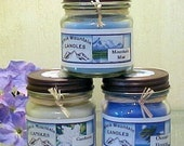 Pick any six Handmade Soy Candles Black Mountain Candles 8 ounces