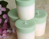 4 Soy Votive Candles SAGE and CITRUS  Handmade by Black Mountain Candles