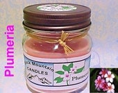 PLUMERIA Soy Candle Handmade by Black Mountain Candles 8 ounces