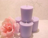 4 FRENCH LAVENDER  Soy Wax Votive Candles Handmade by Black Mountain Candles