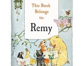 Personalized Bookplates - Singing Animals - Vintage Book Labels, Adorable Baby Shower Gift