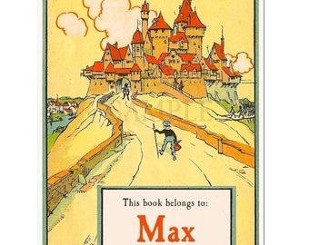 Castle Personalized Vintage Bookplates