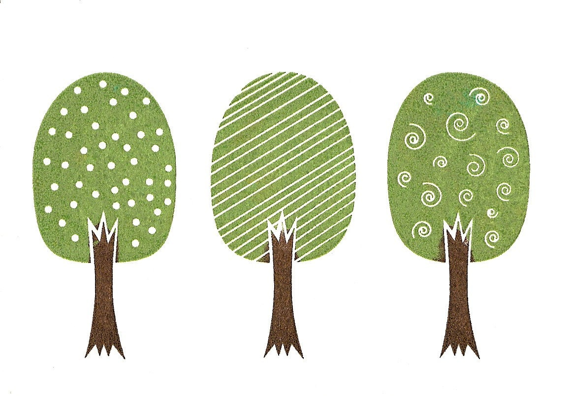 Three Trees Make A Forest Folded Greeting Card