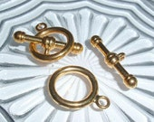 Gold Plated Toggle Clasp-2