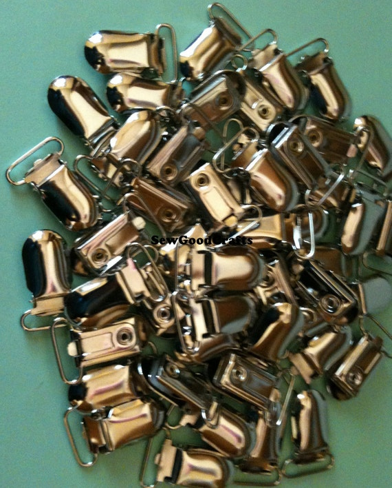 50 3/4  inch LEAD FREE - Metal Suspender Clips with plastic inserts