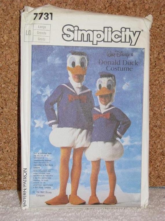 Disney Donald Duck Costume Pattern Adult Large Size 40 - 42 Halloween SUPER Quack Cute