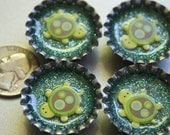 Bottle Cap Magnets-Turtles