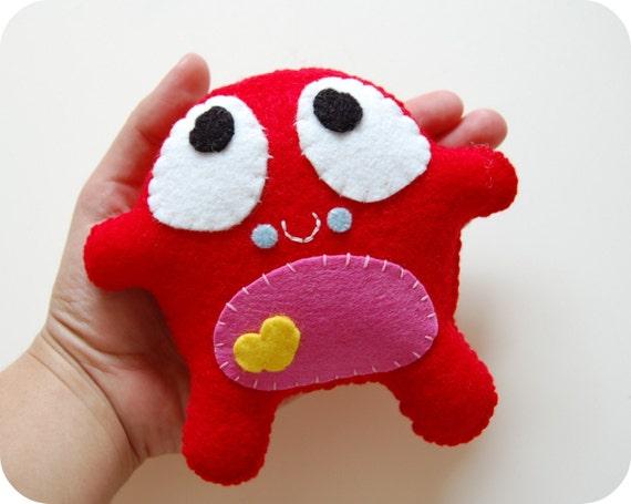 SALE Red Poko Plush Toy / Eco Friendly Stuffed Toy