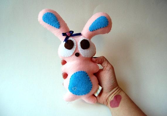 CUSTOM ORDER Stella the Eco Friendly Plush Bunny