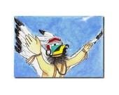 Native American Eagle Dancer ( 4 x 6 original)
