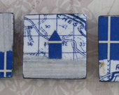 set of 3 house magnets
