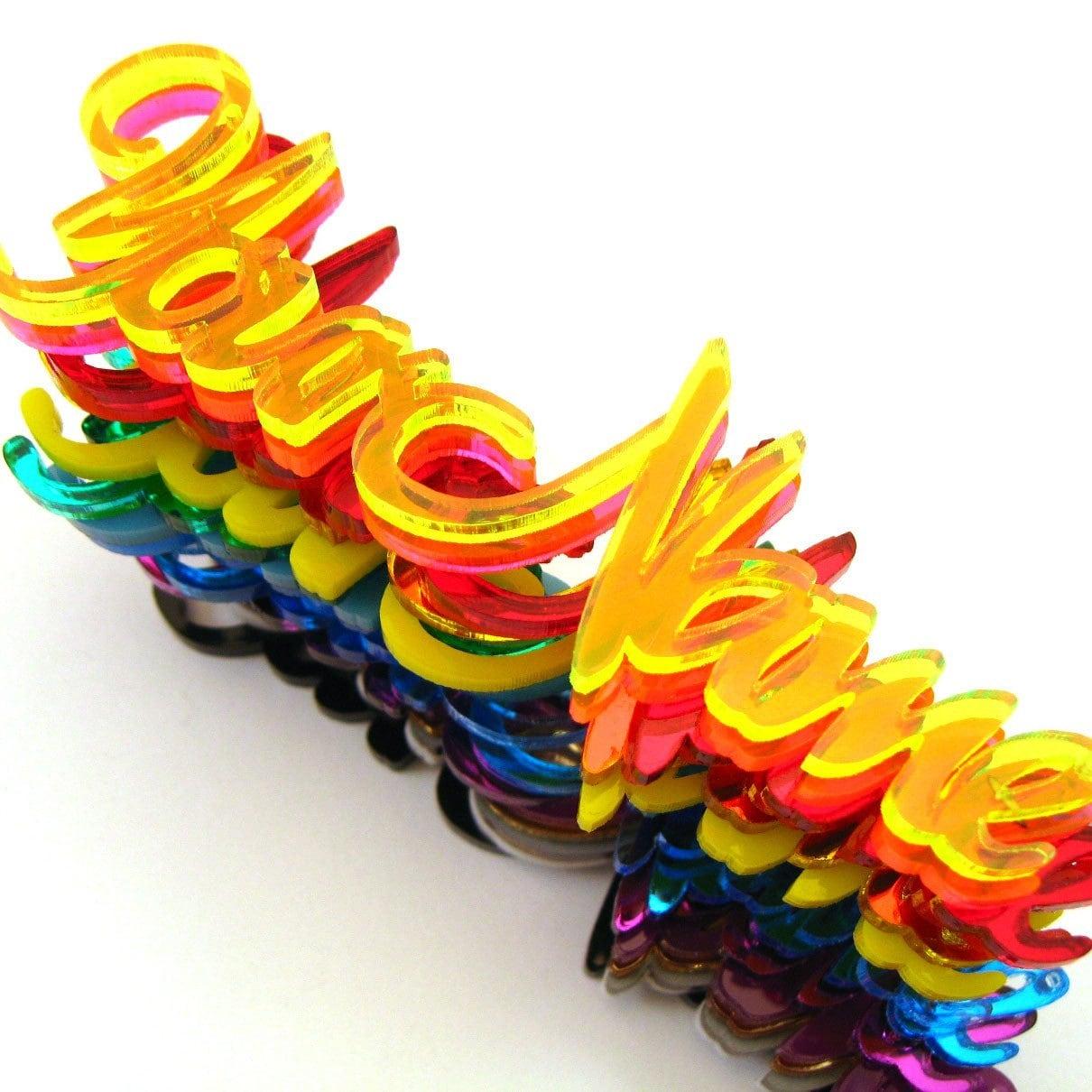 Items Similar To Custom Name Necklace Laser Cut Acrylic