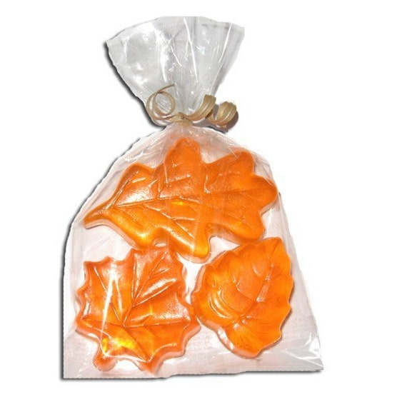 2 sets fall trio leaf soap halloween autumn or for Fall soap scents