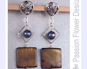 Secret Heart and Tigerseye Earrings