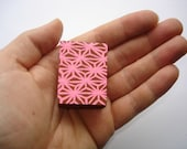 pink paterned mini painting
