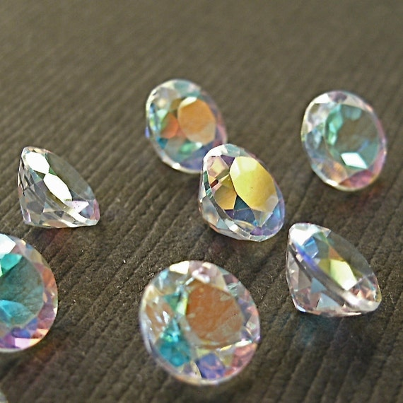 Faceted Gemstones Topaz Mercury Mist Diamond Cut AAA 5mm FOR ONE