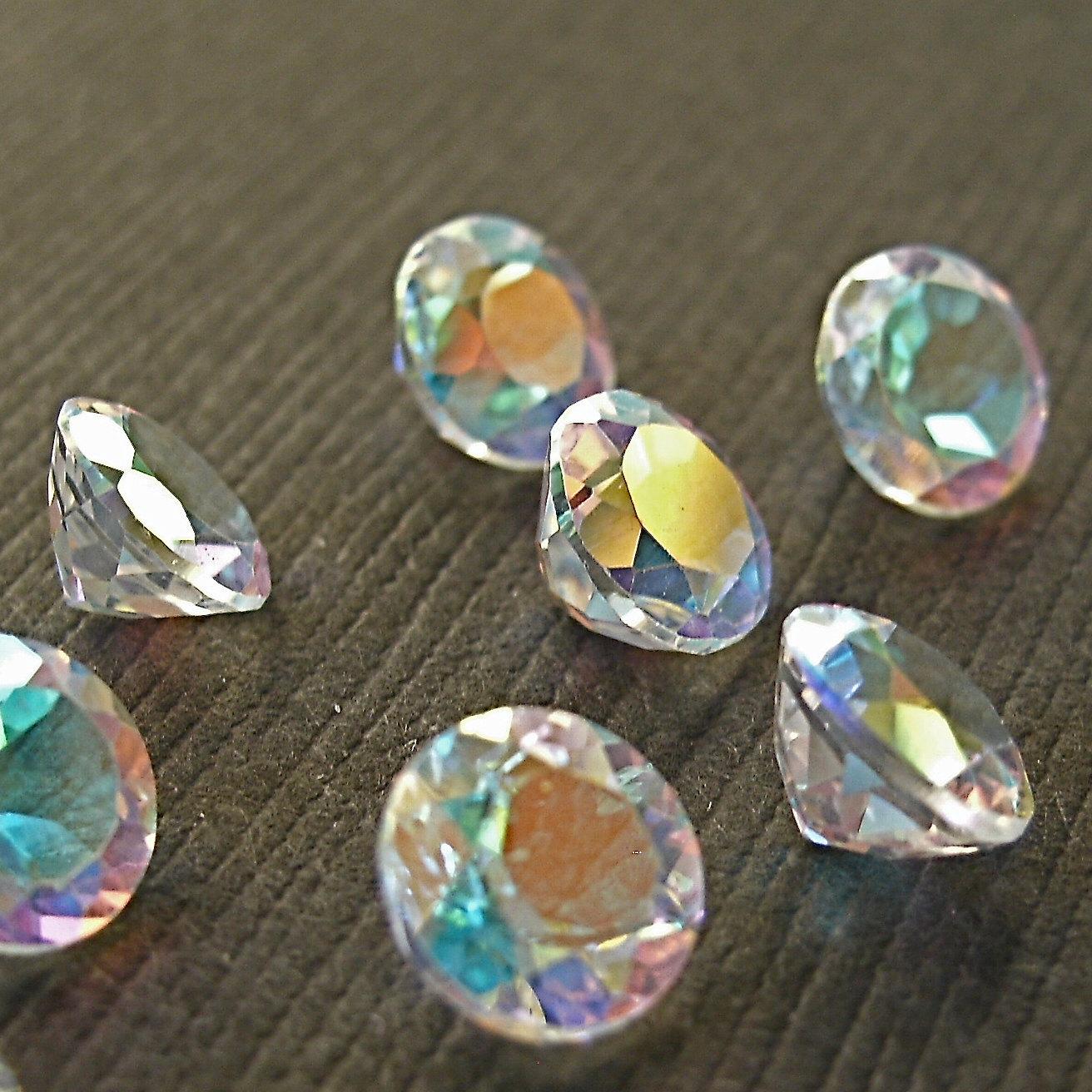 faceted gemstones topaz mercury mist cut aaa 6mm for