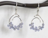 S1303 MADE To ORDER Tanzanite wrapped sterling pendant earrings
