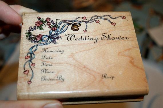Wedding Shower Invitation Rubber Stamp