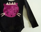 KITTY LEOTARD- Princess Cat - Long Sleeve Leotard - Kitty Cat Costume -Size 18/24 months, 2/4 years, 4/6 years, 6/8 years  and up