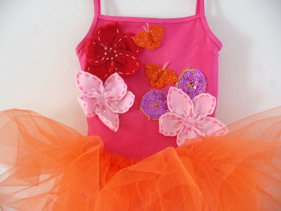 BUTTERFLY LEOTARD TUTU -  Flower Butterfly Sparkle Garden-  18/24 months, 2/4 years, 4/6 years ,6/8 years and up to adult sizes