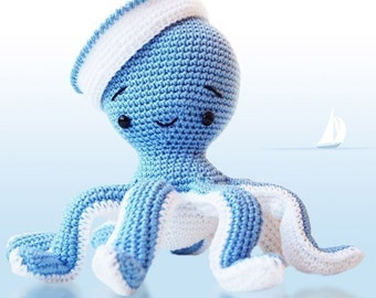 Amigurumi Crochet Patern - Sailor Octopus