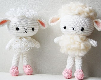 Amigurumi Crochet Lamb Pattern - Cloudy the Lamb - Softie - Plush